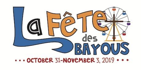 """2019 La Fête des Bayous """"Early Bird Special"""" Ride Bracelet tickets"""