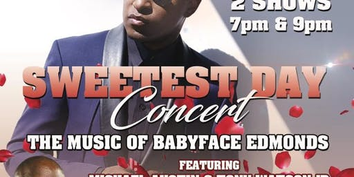 Hubbs Groove Music Of BabyFace On Sweetest Day 7pm Show