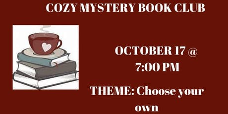 Cozy Mystery book club meeting tickets