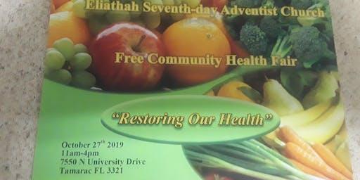 Eliathah SDA Community Health Fair- Restoring Our Health