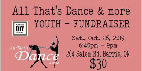 YOUTH  Fundraiser - All That's Dance & more tickets
