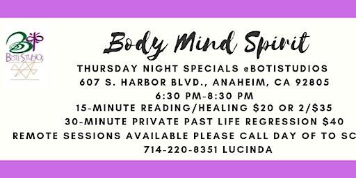 Thursday Night Specials at BOTI Studios