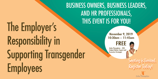 The Employer's  Responsibility in  Supporting Transgender Employees