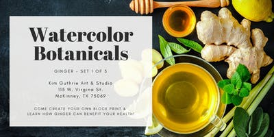 Watercolor Botanicals - Ginger