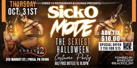 Sicko Mode Halloween Party @Three12_RestaurantandLounge tickets