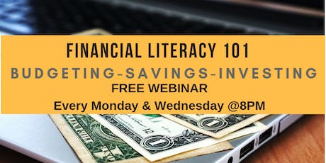 FREE FINANCIAL LITERACY CLASS! Budgeting - Saving -Investing tickets