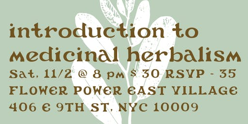 Introduction to Medicinal Herbalism w/ Cloud