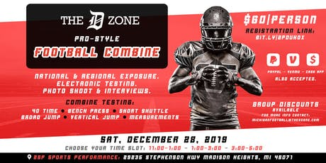 The D Zone Football Combine tickets