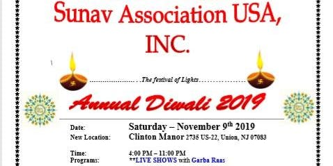 Sunav Association Annual Diwali Function 2019