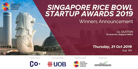 Singapore Rice Bowl Startup Awards 2019 - Winner Announcement tickets