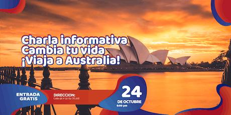 Charla: Viaja de Bogotá a Australia entradas