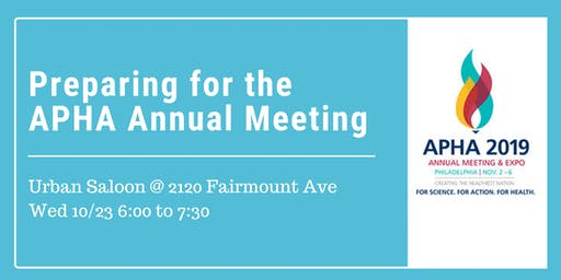 Happy Hour: Preparing for the APHA Annual Meeting