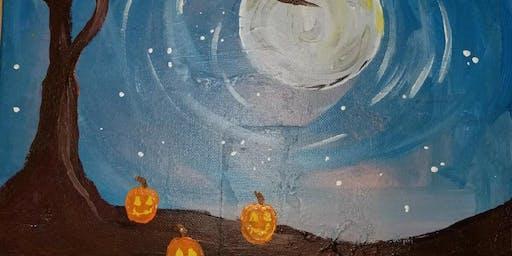 """Pour & Paint """"Moonlight"""""""
