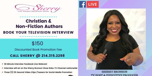 Christian & Non-Fiction Authors: Book Your Television Interview