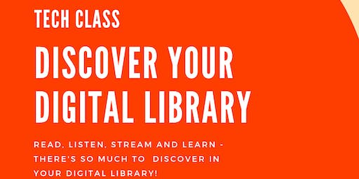 Tech Class - Discover Your Digital Library - Ulladulla Library