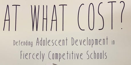 At what cost? Defending Adolescent Development by David Gleason tickets