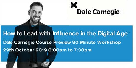 How to Lead with Influence in the Digital Age  tickets
