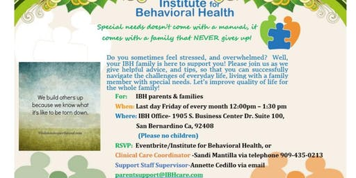 Special Needs Parent Family and Friends Support Group