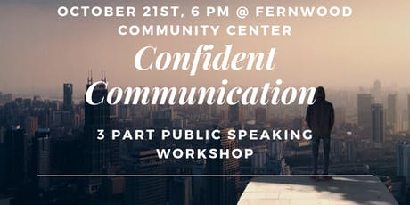 Confident Communication - 3 part public speaking workshop tickets
