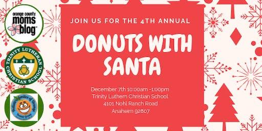Orange County Moms Blog Donuts with Santa - Anaheim Hills