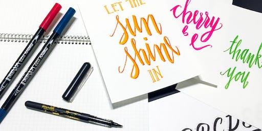 Hand Lettering + Calligraphy Workshop