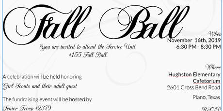 FALL BALL   Hosted by Service Unit #155 tickets