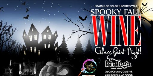 Spooky Fall Wine Glass Paint Night