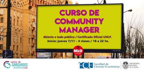 CURSO: Community Manager (CM) entradas