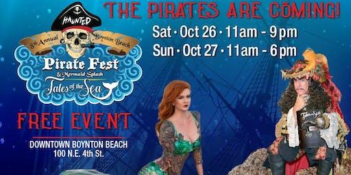 8th Annual Boynton Beach Haunted Pirate Fest & Mermaid Splash