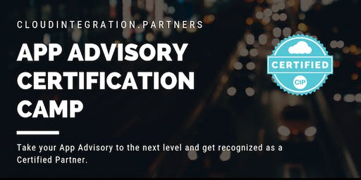 Adelaide CI Partners 2019 Intro to App Advisory Certification Camp