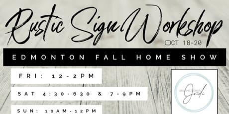 Rustic Sign Workshop with Brushstrokes by Jodi tickets