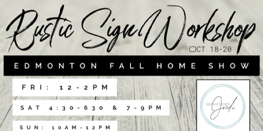 Rustic Sign Workshop with Brushstrokes by Jodi