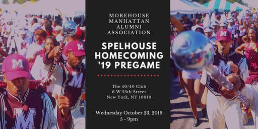 Spelhouse Homecoming 2019 - Official Pregame Happy Hour and Mixer