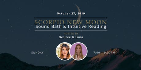 Scorpio New Moon Sound Bath & Intuitive Reading tickets