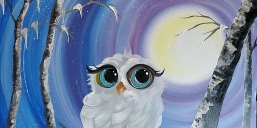 An Evening With Paintergirl~ Snowy The Owl~ Fundraiser for Au Chapeau