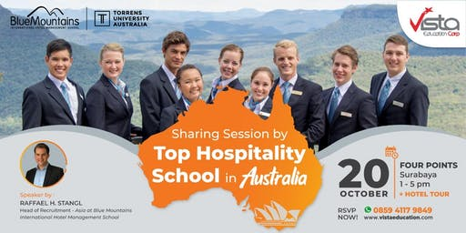 Free Sharing Session by TOP Hospitality School in Australia Surabaya