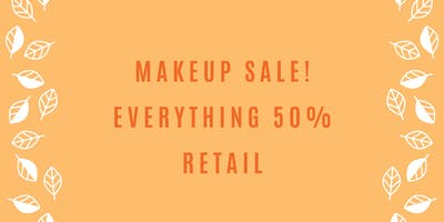 End of Summer Makeup Pop Up Shop [Everything 50% Off Retail]
