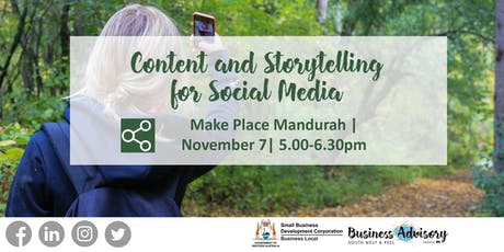Content and Storytelling for Social Media tickets