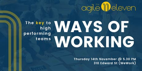 Ways of working: The key to high performing teams tickets