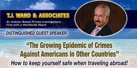 Private Investigator T.J. Ward, Distinguished Guest Speaker tickets