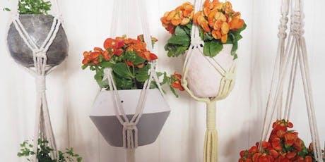 Easy Macramé Plant Hangers (CraftAlive) tickets