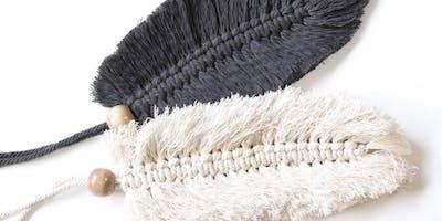 Create Macrame Feather Keyrings ***** Workshop