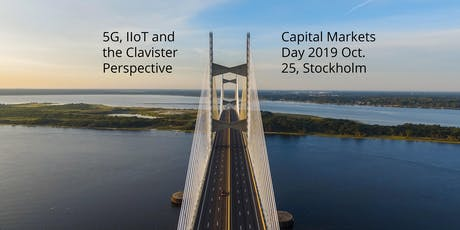 Clavister Capital Markets Day 2019: 5G, IIoT and the Clavister Perspective tickets