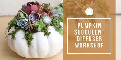 Pumpkin Succulent Diffuser Workshop at RBB!