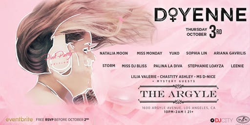 New Venue, Who Dis? - 'Doyenne' at The Argyle in Hollywood on Thursday, October 3rd