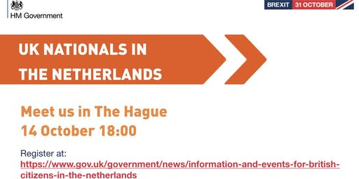 UK Nationals Outreach Event - The Hague