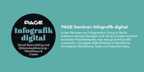 PAGE Seminar »Infografik digital« mit der Infographics Group in Berlin Tickets