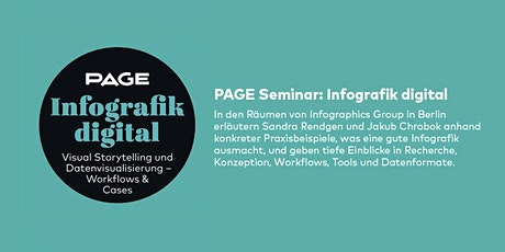 PAGE Seminar »Infografik digital« mit Sapera (ehemals Infographics Group) in Berlin Tickets