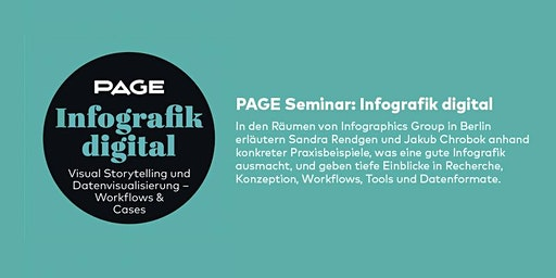 PAGE Seminar »Infografik digital« mit der Infographics Group in Berlin