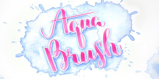 Aqua Brush - Lettering mit Aquarell Effekt